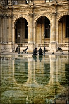 "Louvre, Paris, France...""after the rain"""