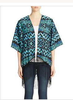 Context fringe kimono