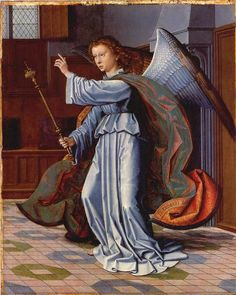 The Cervara Altarpiece by Gerard David, detail of the Angel Gabriel ... Angels in the Bible