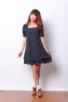 Dot Chiffon Nursing and Maternity Dress « Clothing Impulse