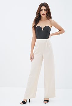 Faux Leather Combo Jumpsuit | FOREVER21 - 2000117719