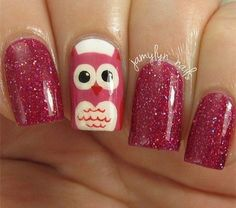"""Tips to make nails grow quicker Nails are part of our skin and are made up of layers of protein called """"keratin"""". We would all like our nails to grow faster as beautiful nails mean beautiful look. Owl Nail Art, Owl Nails, Cute Nail Art, Cute Nails, Pretty Nails, Minion Nails, Owl Nail Designs, Nail Art Designs 2016, Garra"""