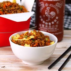 Fried Rice. This is the best meal when you're feeling rushed on a weeknight!