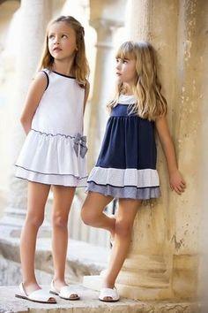 Classic P/V 2015 - Artesania Amaya Little Dresses, Little Girl Dresses, Cute Dresses, Girls Dresses, Cute Kids Fashion, Little Girl Fashion, Fashion Children, Moda Kids, Cute Little Girls