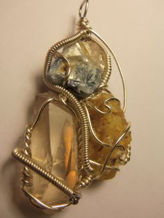 Blue Kyanite / Clear Quartz / Amber Clear Quartz, Amber, Chain, Blue, Shopping, Jewelry, Fashion, Moda, Jewlery