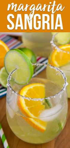 Make a white Margarita Sangria for your next party! This easy cocktail recipe is the perfect combination of a classic margarita and a delicious sangria recipe. via @crazyforcrust