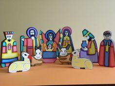 Wooden Nativity Set El Salvador Hand Made