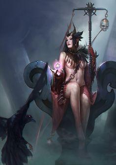 witch queen - fantasy art