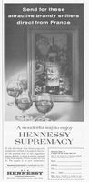 Hennessy Cognac Brandy Snifters 1960 Ad Picture