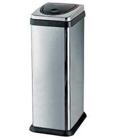 Buy Argos Home 30 Lt Rectangular Touch Top Kitchen Bin - Silver