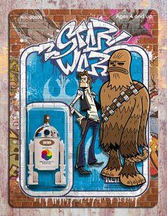 Phil Postma Star Wars graffiti illustrations