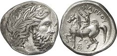 Tetradrachm of Philipp II depicting the King addressing the army assembly, minted in Pella c. 359-355