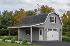 2 Story Single Gambrel Garage Two Story One Car Garage