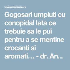 Gogosari umpluti cu conopida! Iata ce trebuie sa le pui pentru a se mentine crocanti si aromati… - dr. Andrei Laslău