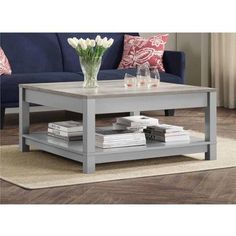 Better Homes and Gardens Langley Bay Coffee Table, Gray/Sonoma Oak - Cool Kitchen Gifts