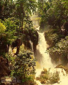 Fairytale Waterfall Photo Travel Photography Nature by StudioYuki, $30.00