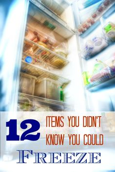 12 things you probably did not know you could freeze.