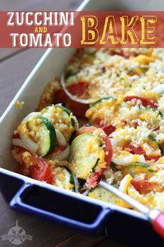 Zucchini and Tomato Bake - tastes like summer!