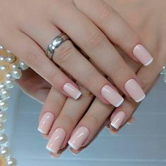 Want to know how to do gel nails at home? Learn the fundamentals with our DIY tutorial that will guide you step by step to professional salon quality nails. French Manicure Acrylic Nails, Simple Acrylic Nails, Pink Acrylic Nails, French Nails, Nude Nails, Pink Nails, Glitter Nails, Gel Nails, Glitter Eyeshadow