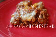 Grain-free Zucchini Lasagna (GAPS diet)
