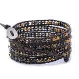 Ships in 24-hours. Sparkle 'til your heart's content with this winter-ready dazzling wrap bracelet made with Crystal Dorado and Jet...