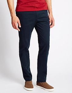 Pure Cotton Slim Fit Flat Front Chinos #trousers #leggings #skinny #men #man #fashion #style #marksandspencer #kadın #pantolon #mscollection #autograph #blueharbor #limitededition #slimfit #straightfit