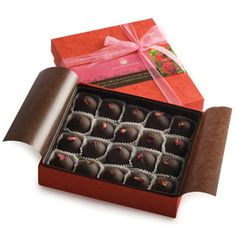 rose petal truffles, the real rose of chocolates. @deananddeluca.com $36