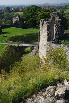 """Pickering Castle Ruins"".. North Yorkshire..The original structure was built by the Normans under William the Conqueror in 1069/70..It is one of only a handful of castles which were largely unaffected by the War-of-the-Roses and of the civil war of the 17th century.."