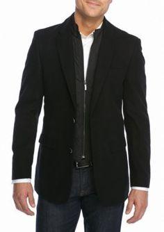 Tommy Hilfiger Black Classic Fit Moleskin With Bib Sport Coat