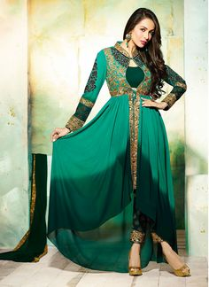Malaika Arora Khan Georgette Designer Suit  Email - support@ethnicoutfits.com Call - +918140714515 What's app / Viber - +918141377746