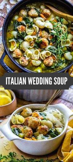 Best Italian Wedding Soup Recipe This Rustic Noodle Soup Is Packed With Beautiful Colors, Flavors And Textures. Appreciate A Warm Hearty Bowl Of This Healthy Flavorful Soup. With regards to Comfort Food, This Recipe Is A Real Winner Easy Soup Recipes, Dinner Recipes, Cooking Recipes, Italian Food Recipes, Noodle Recipes, Health Soup Recipes, Healthy Crockpot Soup Recipes, Casserole Recipes, Traditional Italian Recipes