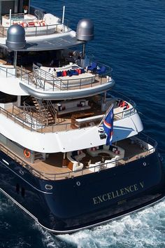 Aft View - EXCELLENCE V Charter Yacht