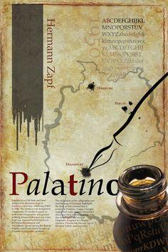Palatino Typography Poster by Timothy Mara