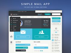 Dribbble - SimpleMail (Full View) - The easy way to email anything by Tommy Roussel