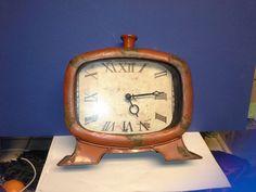 Metal clock by Pattyzztiques on Etsy https://www.etsy.com/listing/261306150/metal-clock