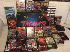 Atari Jaguar Console (NTSC) CIB with 22 games - Breakout 2000, Defender, AvP, ++