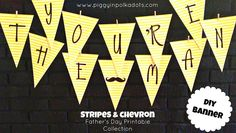 Free Father's Day Banner Download on Piggy In Polka Dots