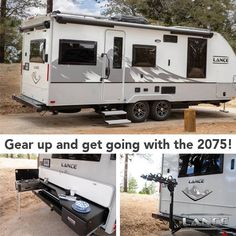 Gear up with the 2075 Lance Travel Trailer! Enjoy the outdoor kitchen and large awnings for a fantastic outdoor adventure! Lance Campers, Rv Show, Major Holidays, Construction Design, Truck Camper, Travel Trailers, Tailgating, Baths, Recreational Vehicles