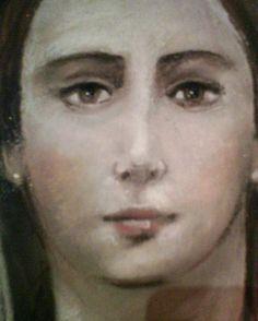 Volto di Maria - pastelli su tavola (particolare) artista: Scognamiglio Pasquale