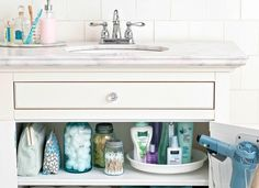 You already know a lazy Susan makes for a handy spice rack (or fridge caddy), but its helpful spin is great for making the depths of a bathroom cabinet or closet more accessible.10 One-Minute Tricks to Get More Organized
