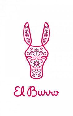 """""""El Burro Logo"""", El Burro, Monday Design, El Burro, Print, Outdoor, Ads"""