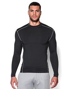 Under Armour Men's ColdGear Mock Tee, Black (001), Small