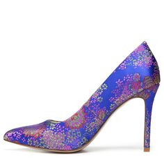 Carlos BY Carlos Santana Women's Posy 2 Pump Shoes (Blue Brocade Fabric)