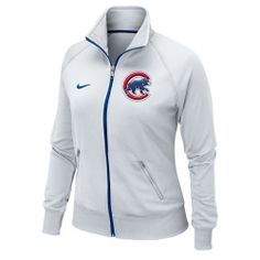 Chicago Cubs Women's White Track Jacket by Nike | Sports World Chicago $64.95