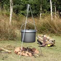 OUTAD Durable Portable Outdoor Hanging Pot Campfire