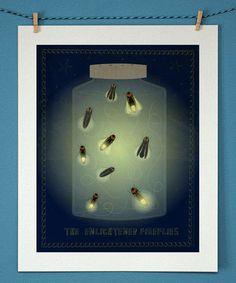 Love this 'The Enlightened Fireflies' Print on #zulily! #zulilyfinds