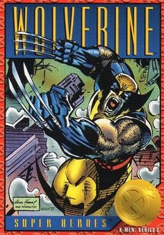 X-Men Series 2 - Wolverine # 36 Skybox 1993 Marvel Cards, Cultura Pop, Comic Covers, Comic Artist, Comic Books Art, Book Art, Comic Character, X Men, Trading Cards