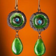 ceramic earrings www.katesakis.lt