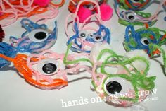 yarn, glue, and a googly eye - and you've made a monster.