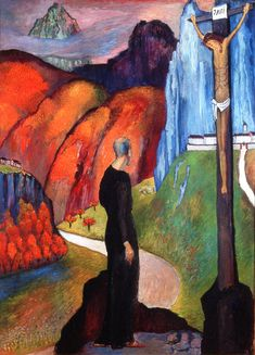 The Monk (Marianne von Werefkin - 1932)